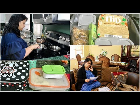 Morning Vlog 2018  : Preparing Lunch Box For  Husband And Kid    Indian (NRI) Mom Routine