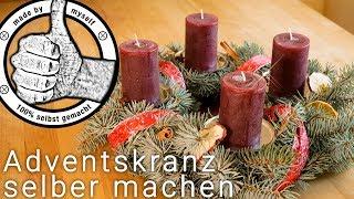Adventskranz selber machen, selber binden Weihnachten Deko DIY
