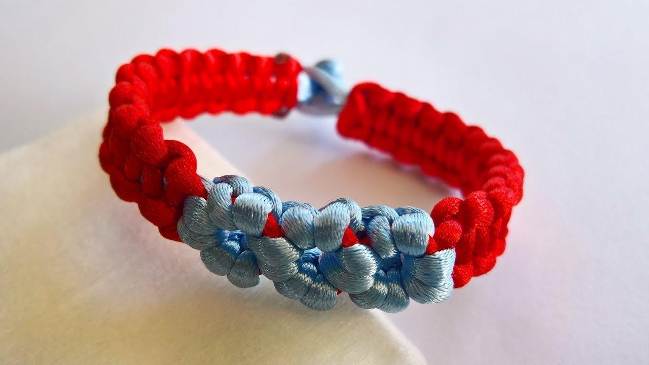 HƯỚNG DẪN LÀM VÒNG TAY HÌNH BÔNG HOA, Flower Shaped Bracelet tutorial – handmade bracelet