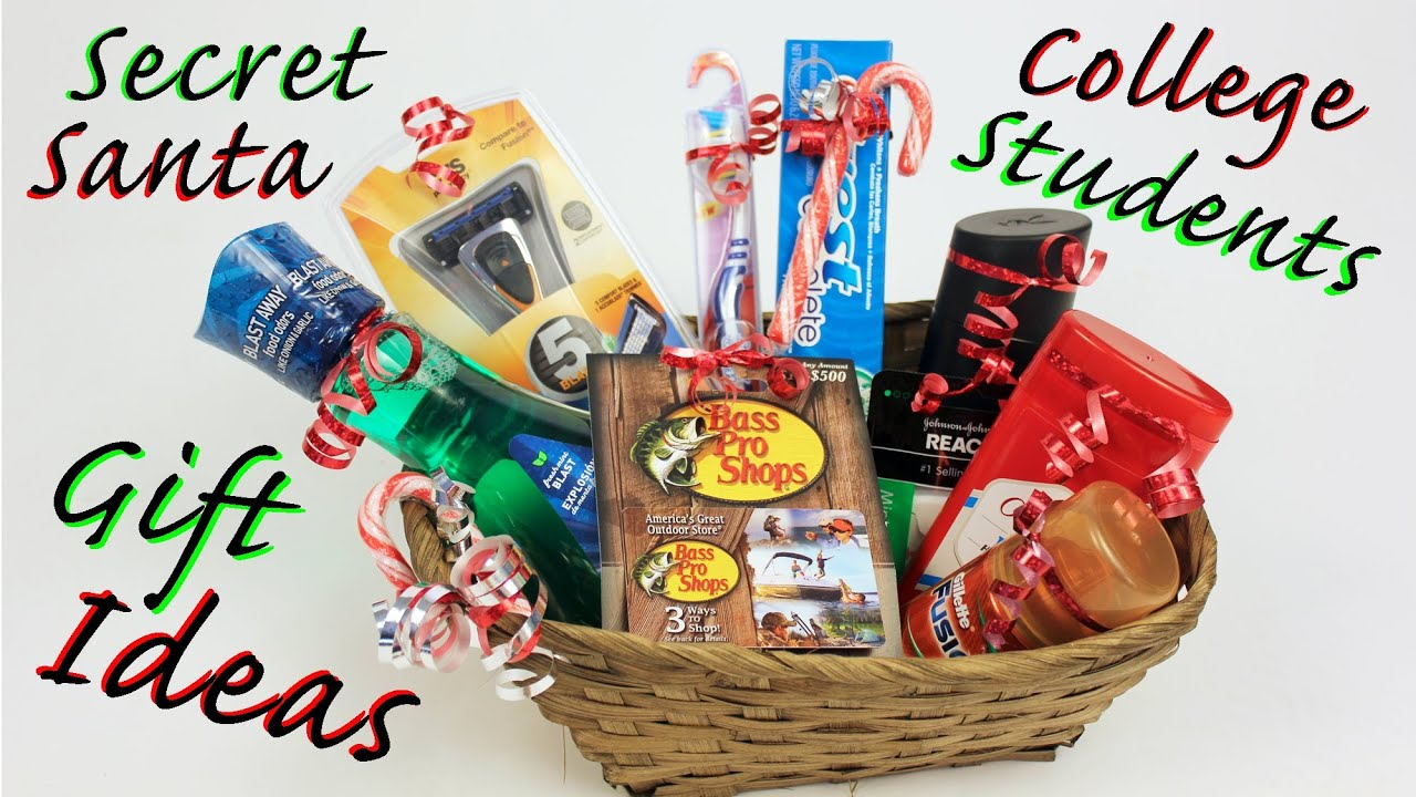 Gift Ideas For College Students Secret Santa Youtube