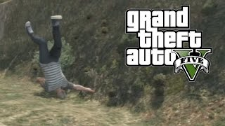 GTA 5 - Jumping Off Mountains (GTA 5 Funny Moments)