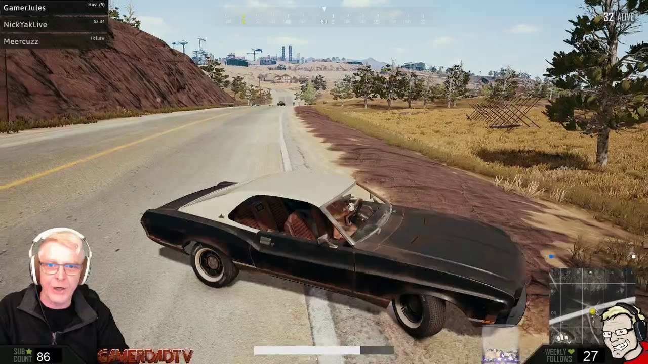 Pubg 2 Kills With The New Muscle Car Youtube