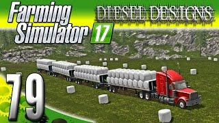 Farming Simulator 2017 Gameplay :EP79: Silage Snake!  4 Trailers! (PC HD Goldcrest Valley)