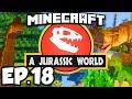 Jurassic World: Minecraft Modded Survival Ep.18 - DINOSAUR GROWTH SERUM!!! (Rexxit Modpack)