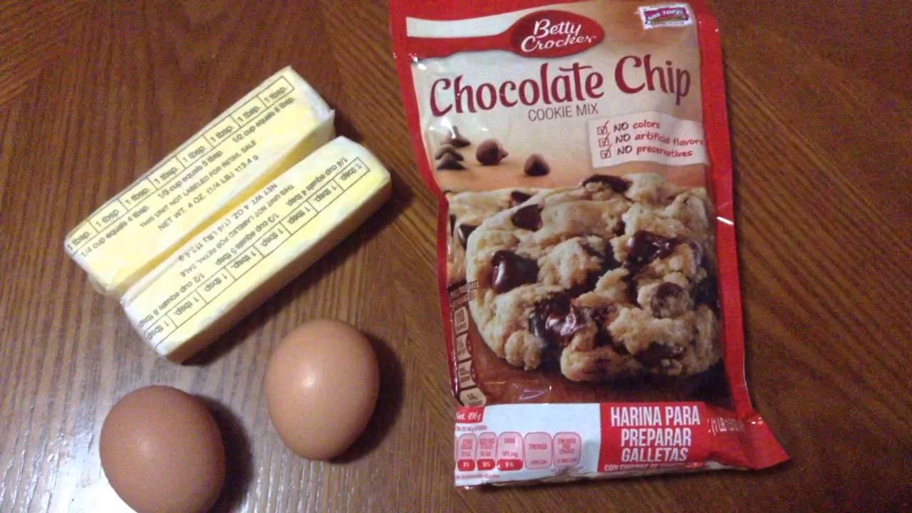 receta para hacer galletas con chips de chocolate