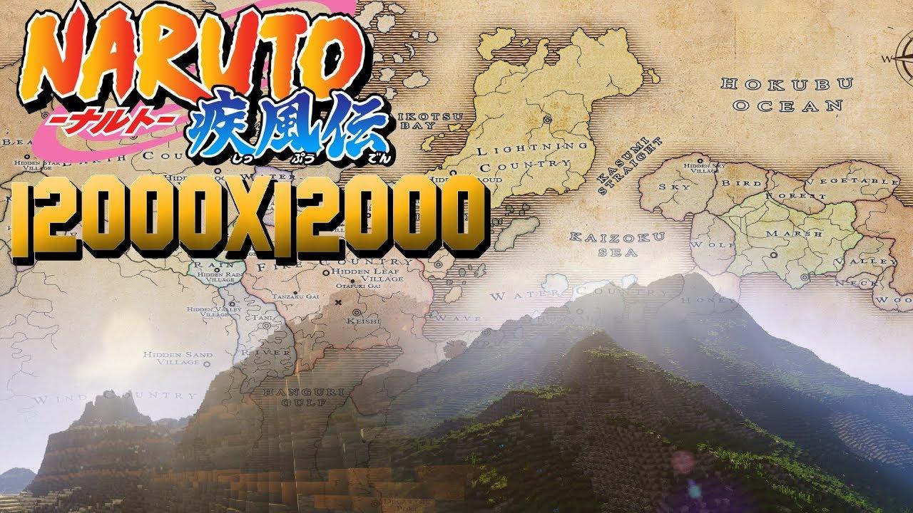 The World of Naruto/Мир Наруто в Minecraft-World Painter [12000x12000]