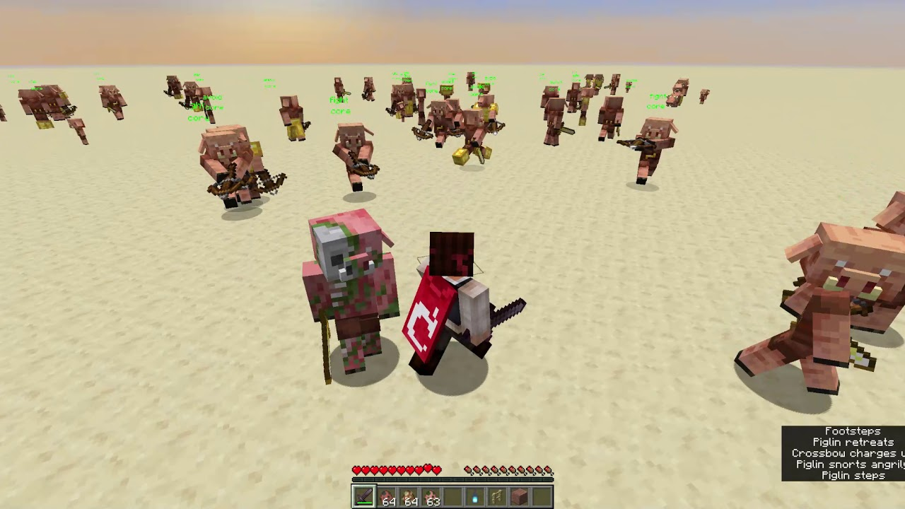 Making zombified piglins work as bodyguards against piglins