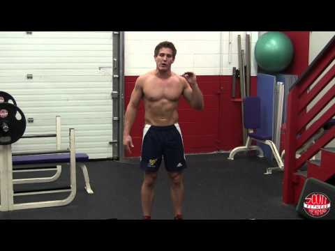 How To: Standing Oblique Crunch (With Plate Or Dumbbell)