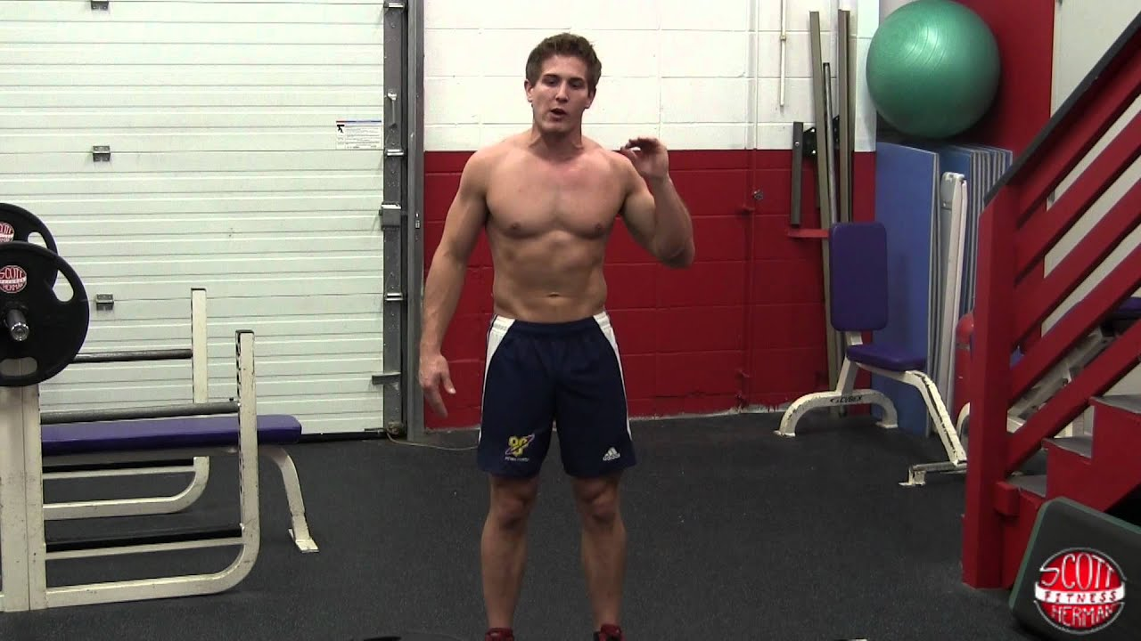 How To Standing Oblique Crunch With Plate Or Dumbbell