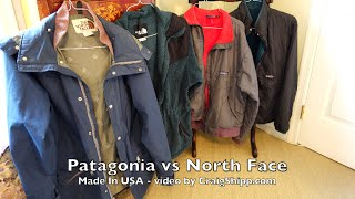 Patagonia vs North Face Made in USA in 4k UHD
