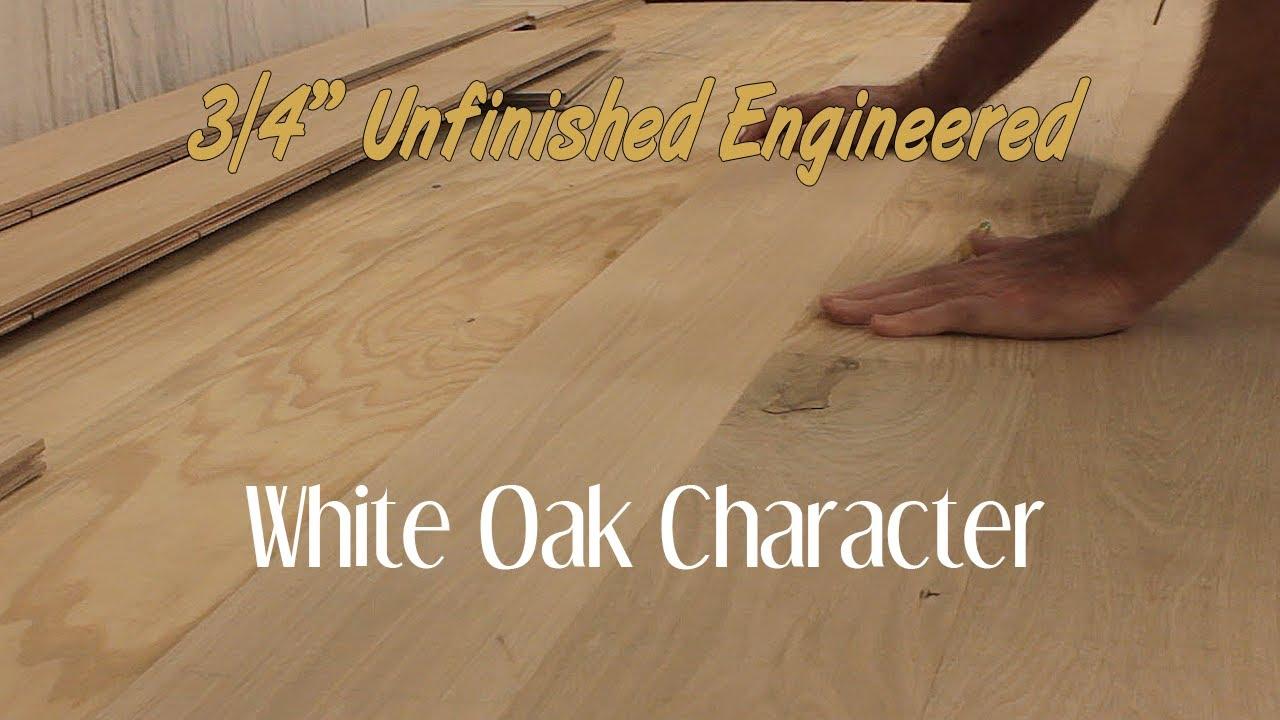 Unfinished Engineered White Oak Character Hardwood Flooring 34