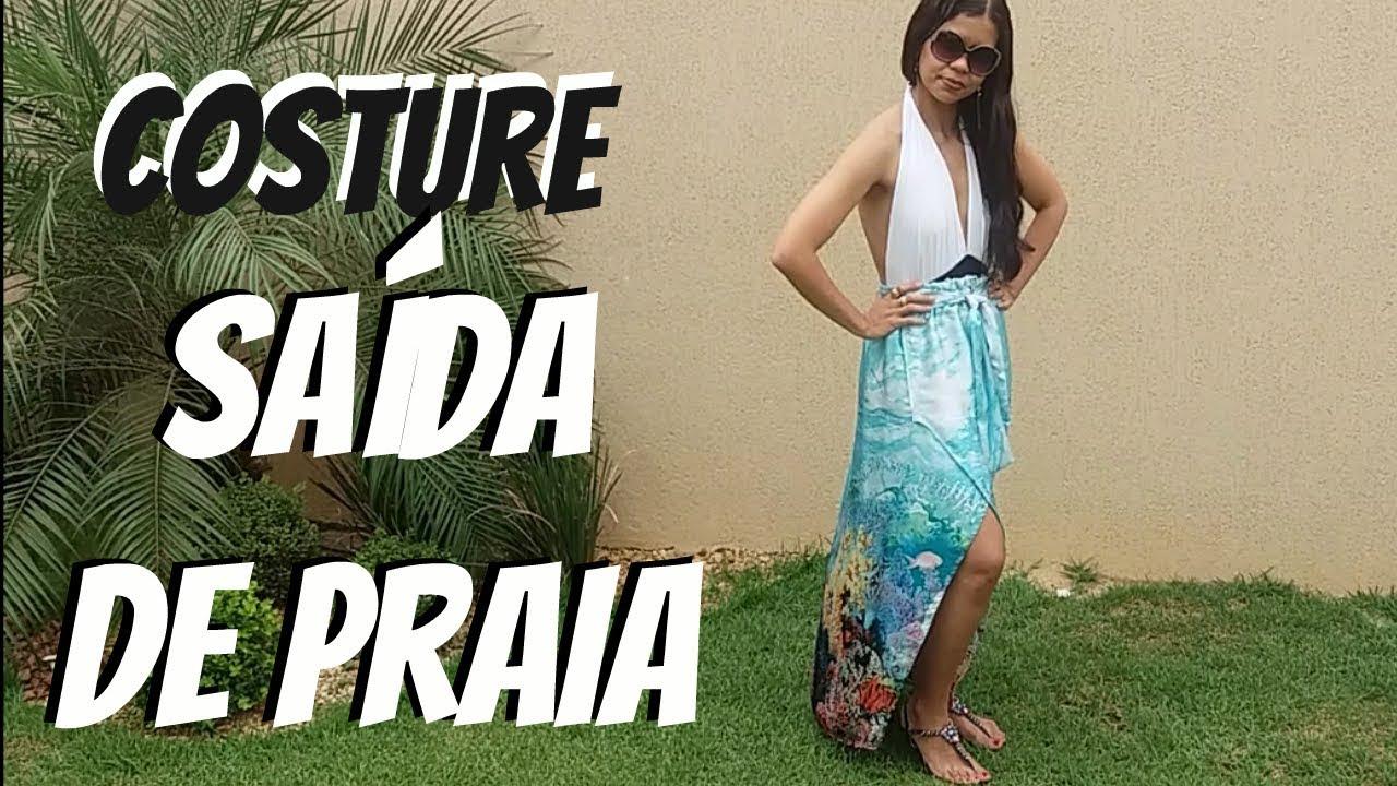 COSTURE SAÍDA DE PRAIA - SAIA PAREO - YouTube 15efe12ad7c