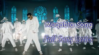 Muqabla Song Lyrics | Singer by Yash Narvekar, Parampara Thakur | Street Dancer 3D