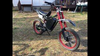 EBIKE - 72V 2000W Electric Ebay Dirt Bike First Ride!
