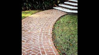 Unique Brick Walkway Ideas For Beautiful Home, Hardscape Path Design Ideas For Beautiful Home #5