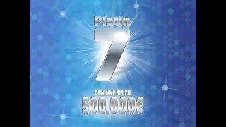 Für 100 Euro das Rubbellos Platin 7 weggerubbelt - 500.000 Euro Gewinn Jackpot 😱😱😱