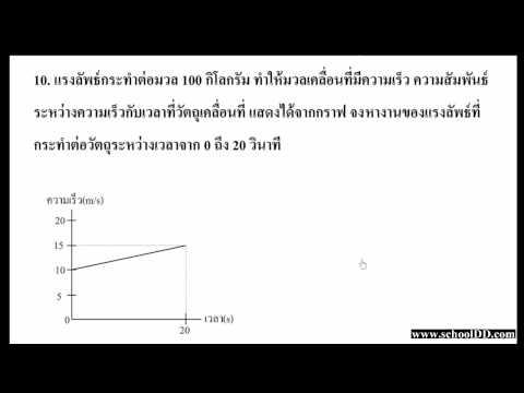 ฟิสิกส์ บทที่ 5 งาน(แบบฝึกหัดท้ายบท)