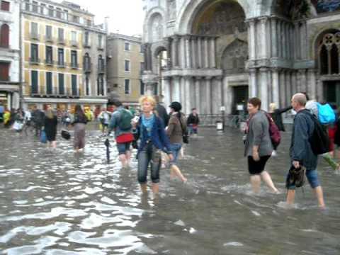Aqua Alta - Flooded St Marks Square - Piazza San Marco