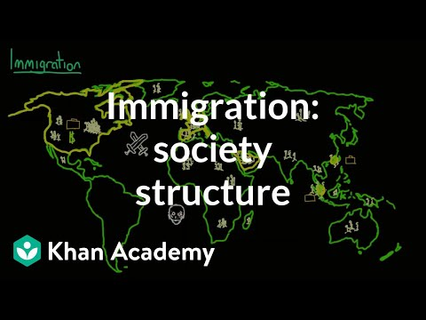 Demographic structure of society - immigration | Society and Culture | MCAT | Khan Academy
