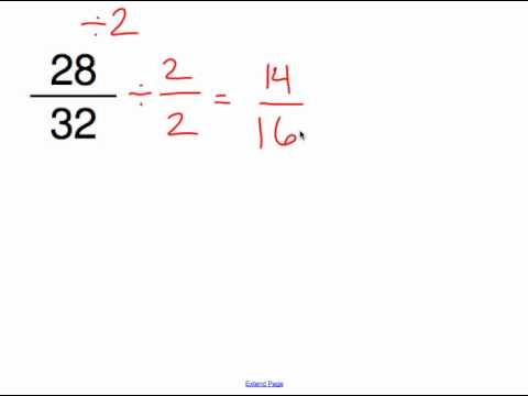 Reducing Fractions to Simplest Form.mp4 - YouTube