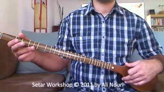 Persian Setar Workshop video 5: Lesson 9 to 16, Ketabe Aval Honarestan