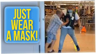 Guy in Walmart Shoves Attendant Over Not Wearing a Mask (ft. Gina Darling)