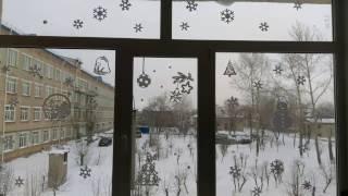 видео Как украсить окна к Новому году 2017 своими руками (50 фото идей)