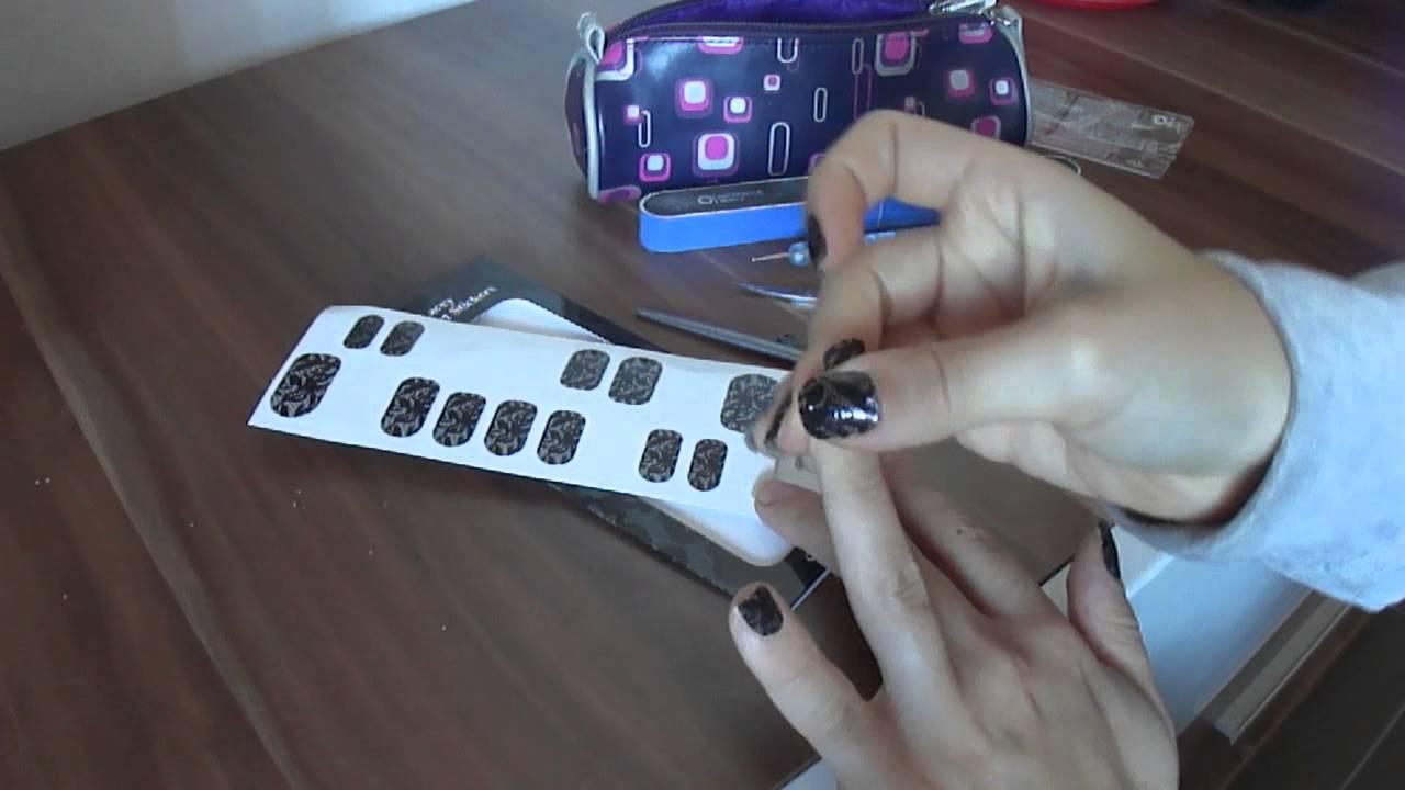 Cum Sa Aplici Folii Pentru Unghii Nail Stickers By Oriflame Youtube