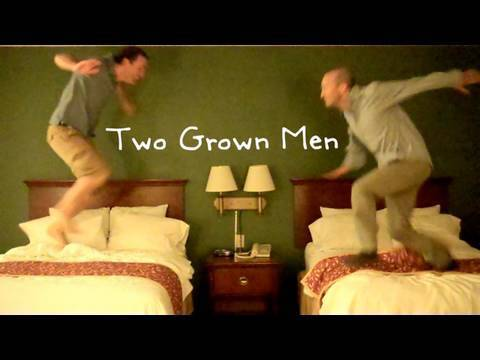 Hotel Room Douchebaggery Two Grown Men Jumping on Beds Like Idiots and Breaking Stuff