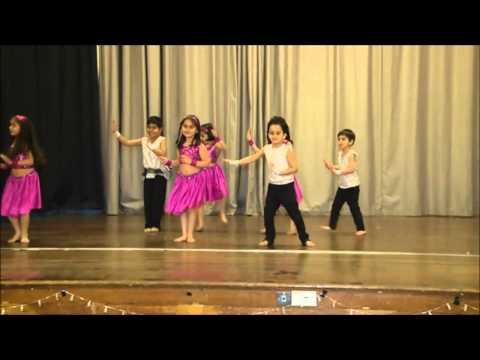 Anita's Dance Factory -4-6yr olds performing Hindi nursery rhymes