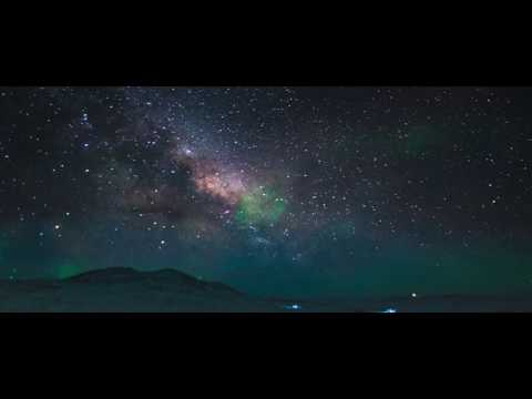 Aurora Australis - Part 1 of 3 - Beauty of night sky at Antarctica, South pole.