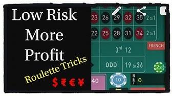 Low risk more profit. sure winning roulette tricks. best online Roulette Casino Games