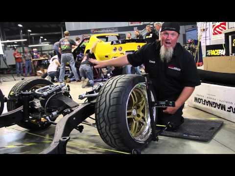The RideTech 48 Hour Corvette - QuickTrick Wheel Alignment Portable - Accurate Caster Camber Toe
