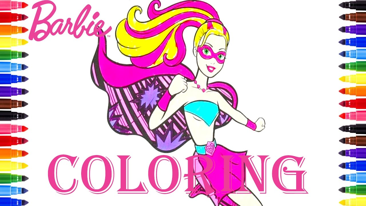 Coloring Book Barbie Princess Power