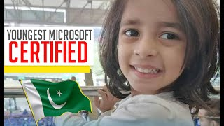 Pakistani Girl Becomes The Youngest Microsoft Certified Professional | Interpreted In Sign Language