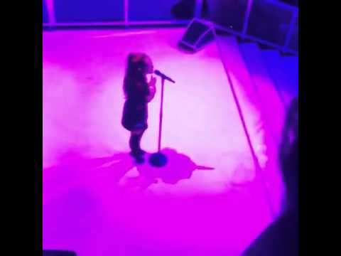 Ariana performing One Last Time at Michael Jordan's 30th Anniversary party
