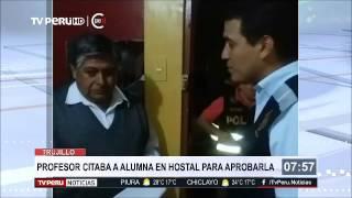 Trujillo: detienen a catedrático en hotel con alumna