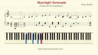"How To Play Piano: Pirates Of The Caribbean ""Moonlight Serenade"" Klaus Badelt Piano by Ramin Yousefi"