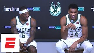 [FULL] Giannis Antetokounmpo and Eric Bledsoe media day press conference | ESPN
