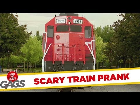 Scariest Runaway Train Prank - Just For Laughs Gags