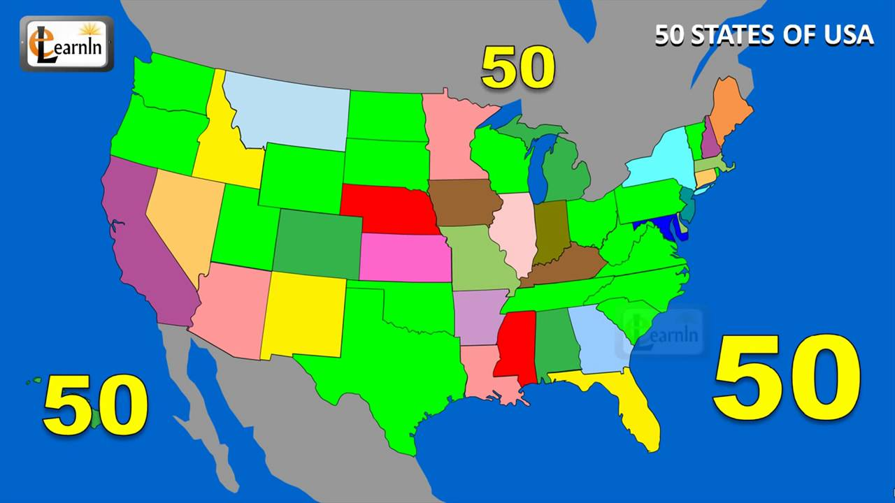 States States Song Fifty States Of USA Song States On US Map - Map of us states in alphabetical order