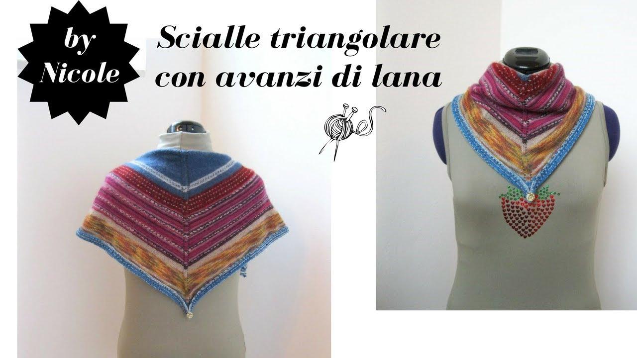 stili classici prezzo all'ingrosso materiale selezionato Tutorial - Scialle triangolare ai ferri con avanzi di lana