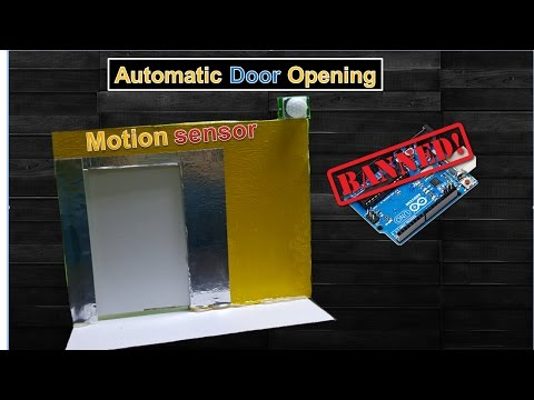How to make a Automatic Door Opening  using Motion sensor thumbnail