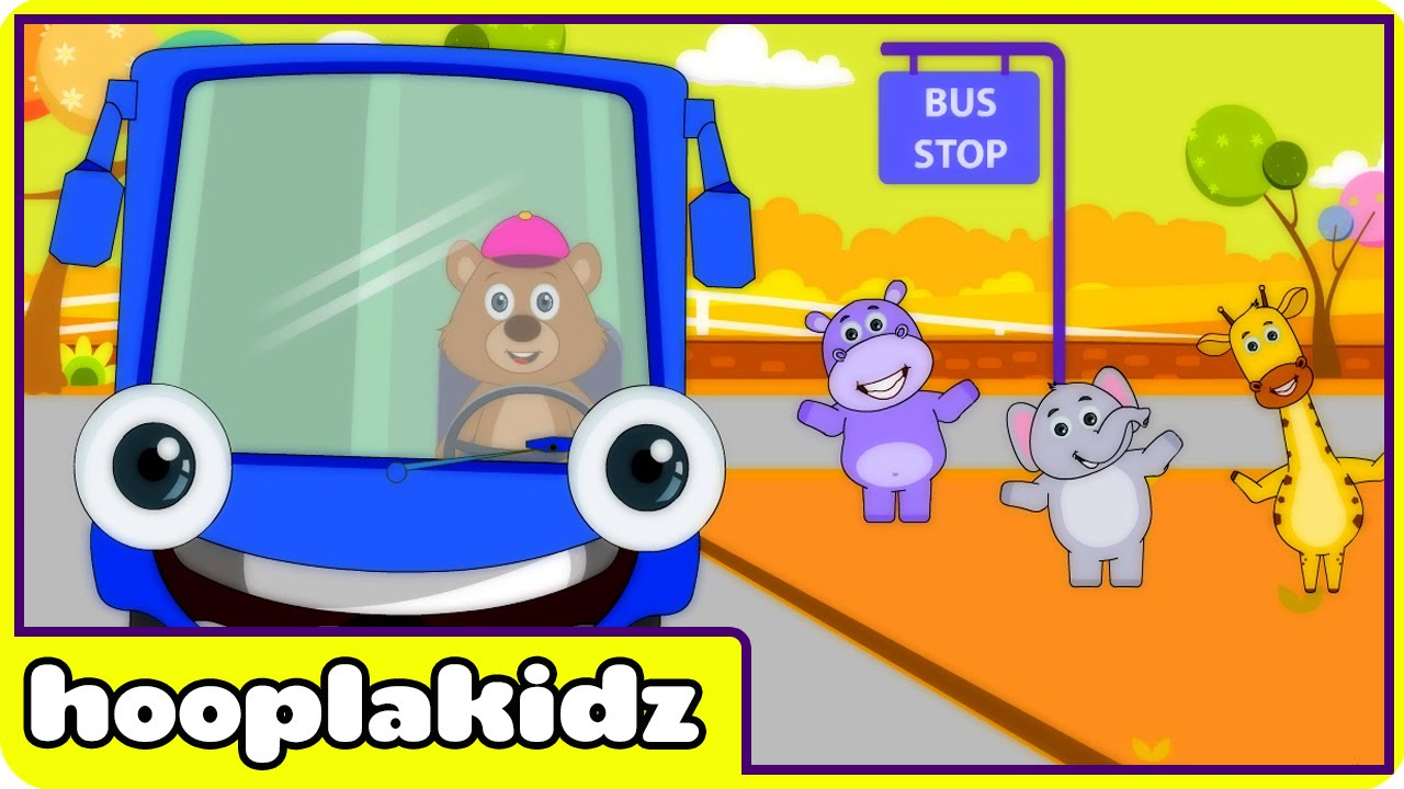Wheels On The Bus Hd Version 3 Nursery Rhymes For Babies From Hooplakidz You