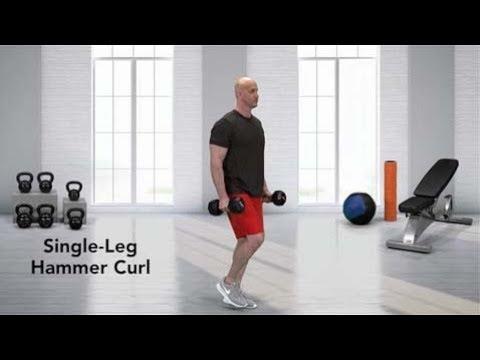 Single leg hammer curl