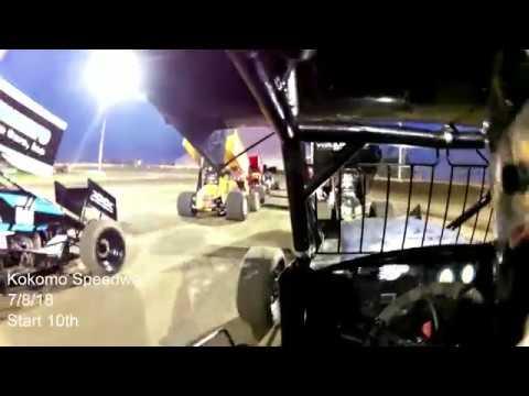 7/8/18 Kokomo Klassic Racesavers 305 Winged Sprints In Car