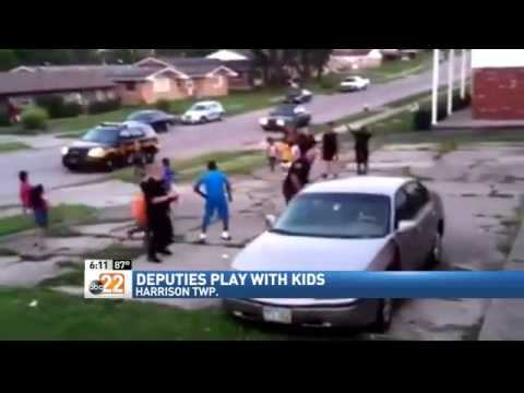 CAUGHT ON TAPE: Montgomery Co. Deputies Stop To Play Football With Some Kids