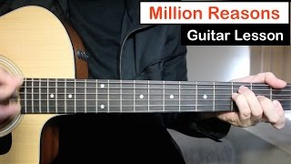 Million Reasons - Lady Gaga | Guitar Lesson (Tutorial) Easy Chords