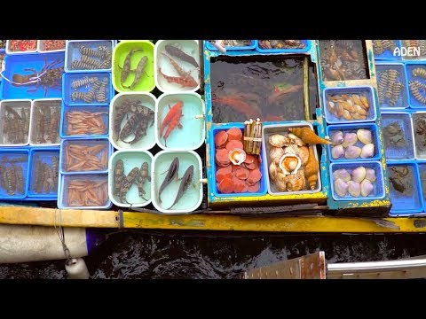 Hong Kong's Floating Seafood Market & Fish Cutting