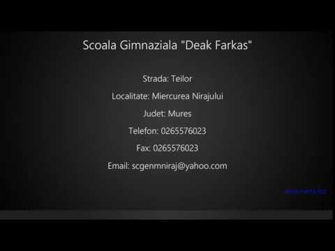 """Scoala Gimnaziala """"Deak Farkas"""" Miercurea Nirajului"""